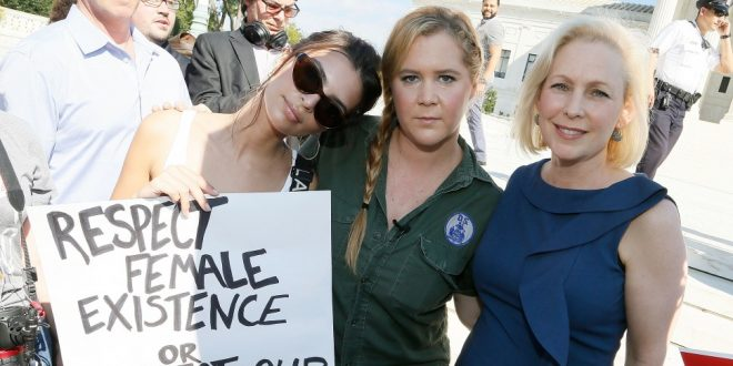 Amy Schumer and Emily Ratajkowski detained at Kavanaugh protests