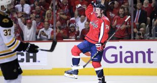 Capitals defeat Bruins to begin title defense