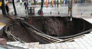 Four dead after an enormous sinkhole suddenly appear in China's Dazhou